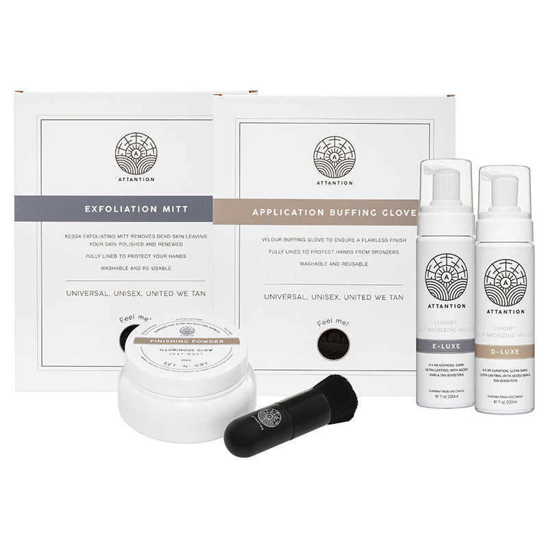 Ultimate Self-bronzing Full Kit | E-LUXE Dark & D-LUXE Ultra Dark