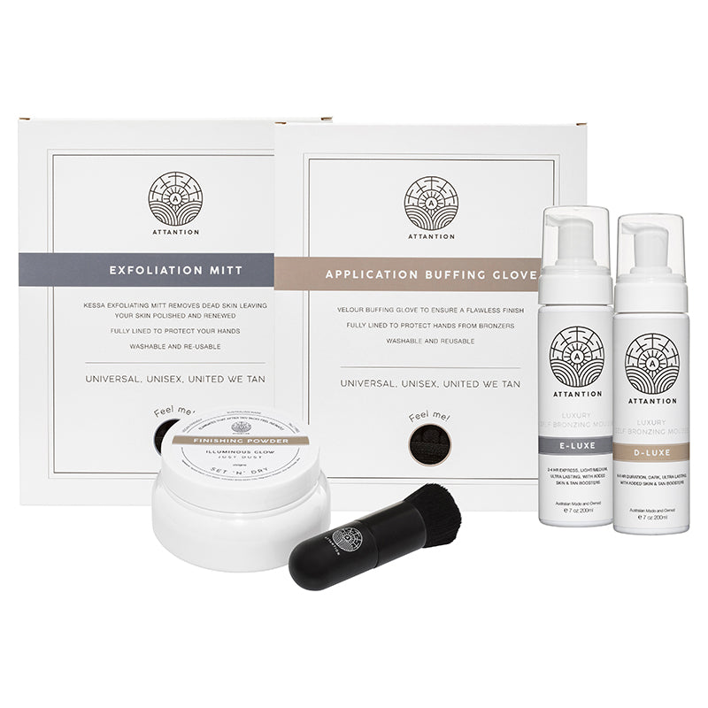 Ultimate Self-bronzing Full Kit | E-LUXE Light to Medium & D-LUXE Dark