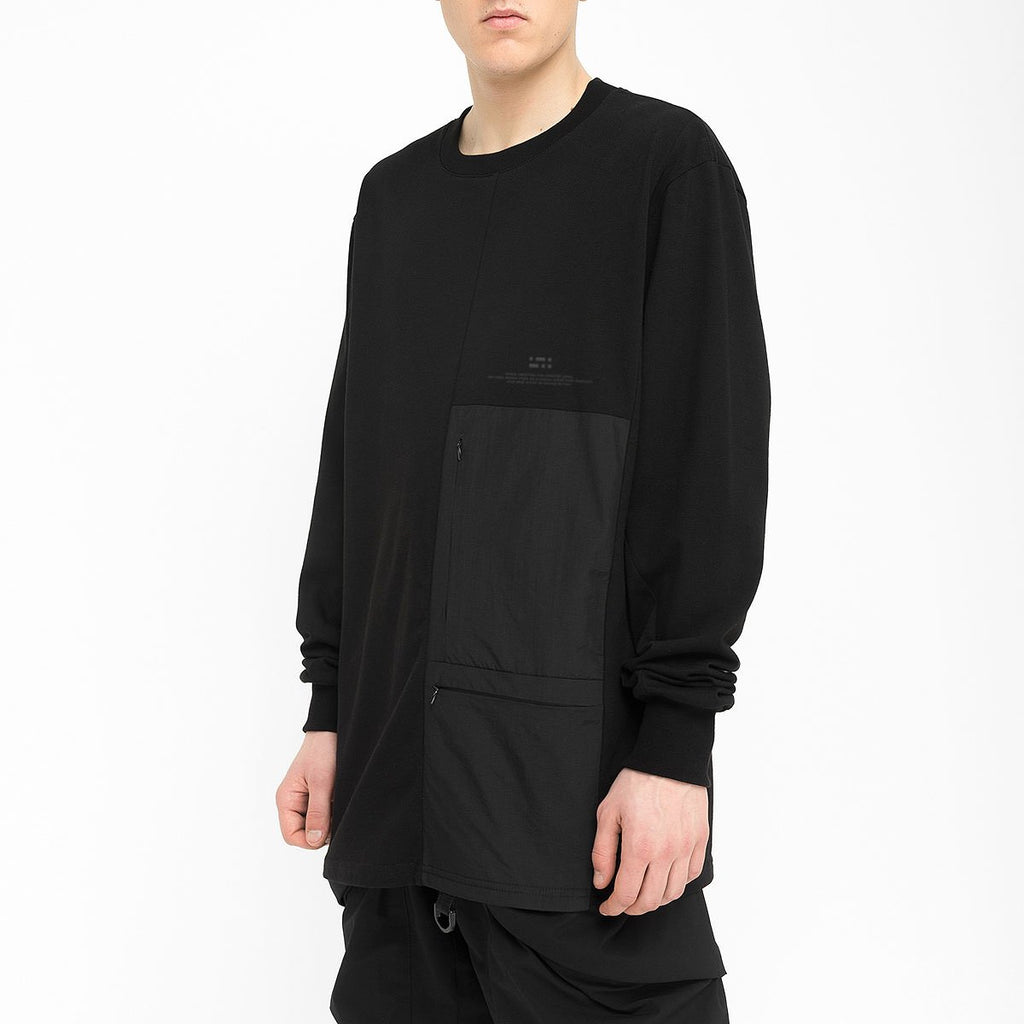 Patched Pockets Longsleeve RD-PPLS BLACK