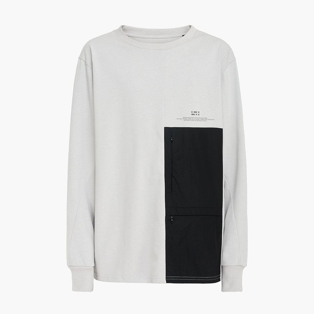 Patched Pockets Longsleeve RD-PPLS GREY