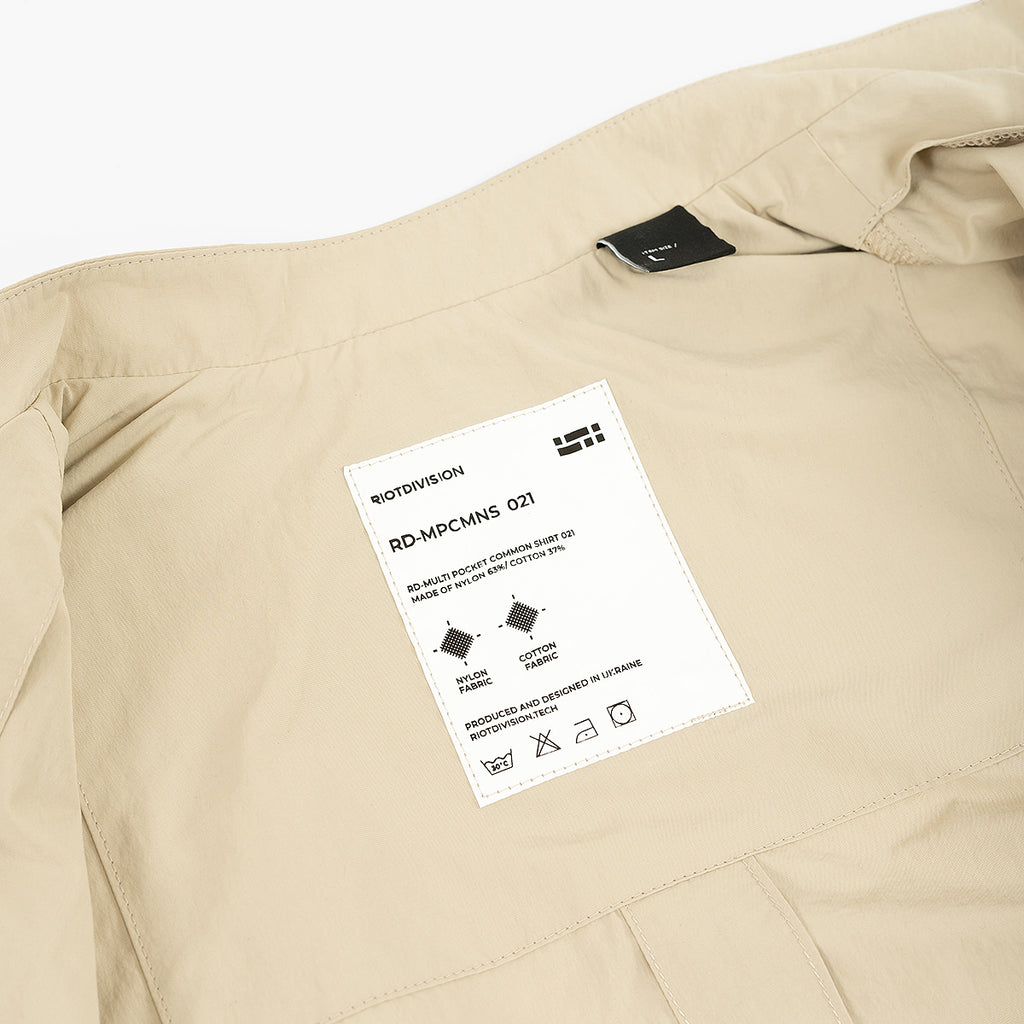 Multi Pocket Common Shirt 021 RD-MPCMNS021 SAND