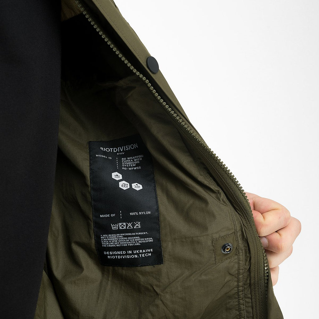 Wrapping Parka With Symbiosis System 020 RD-WPWSS020 KHAKI