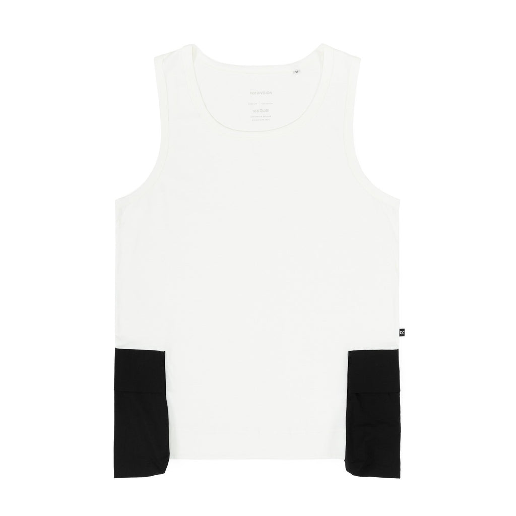 Riot Division Tank Top Patched Pockets WHITE