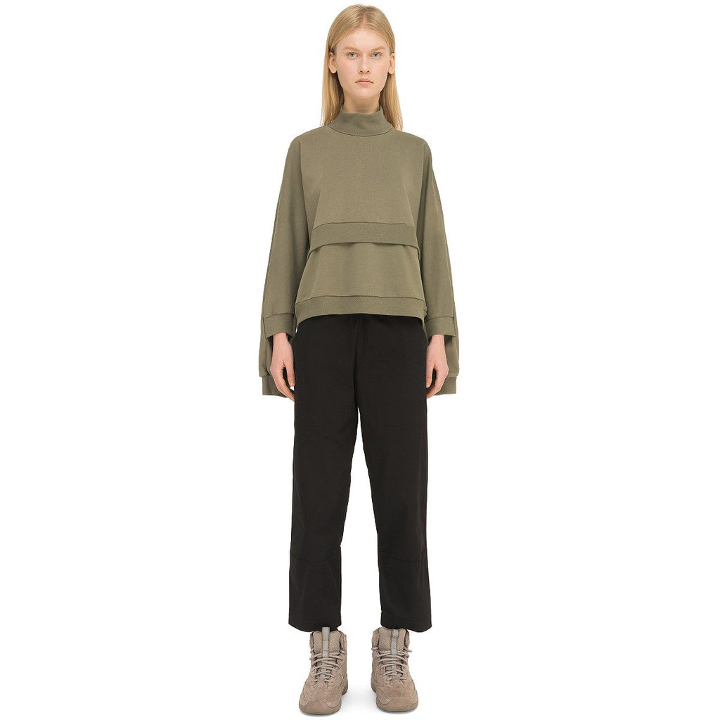 Riot Division Women Cotton Short Sweatshirt RD-WCSS KHAKI