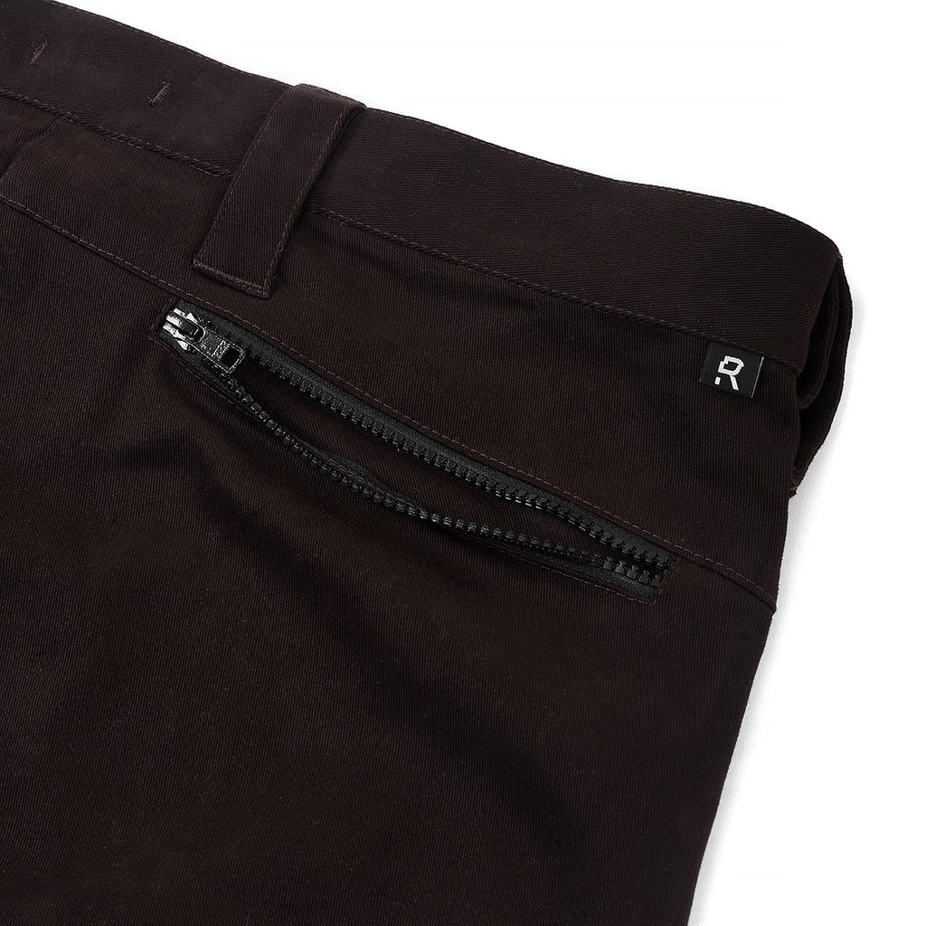 RIOTDIVISION 2 Pockets Zipped Heavy Cotton Pants RD-2PZHCP BROWN