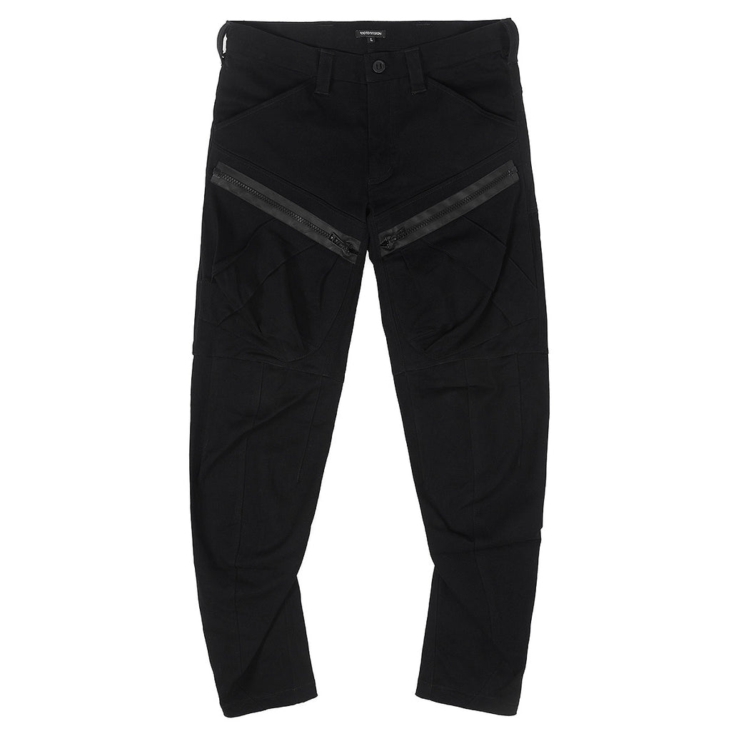 RIOTDIVISION 2 Pockets Zipped Heavy Cotton Pants RD-2PZHCP BLACK