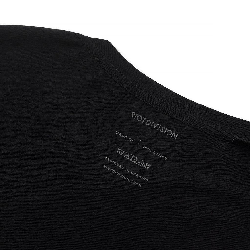RIOTDIVISION Wide T-shirt Blank BLACK
