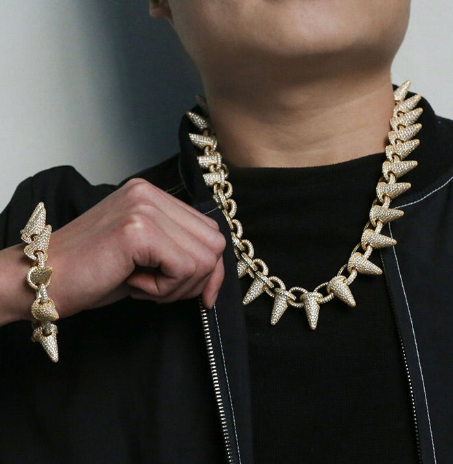 RICH SPIKE CHAIN 14k Gold Plated (Special Order) - Richie Rich Design