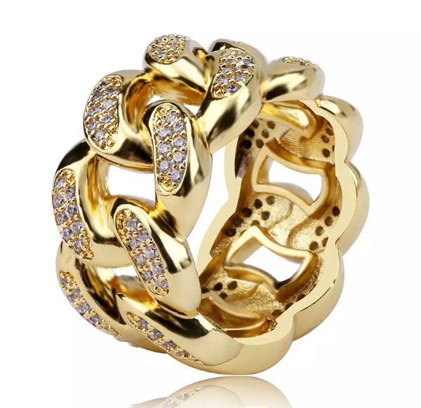 RICH CUBAN RING(Gold Plated•Special Order)