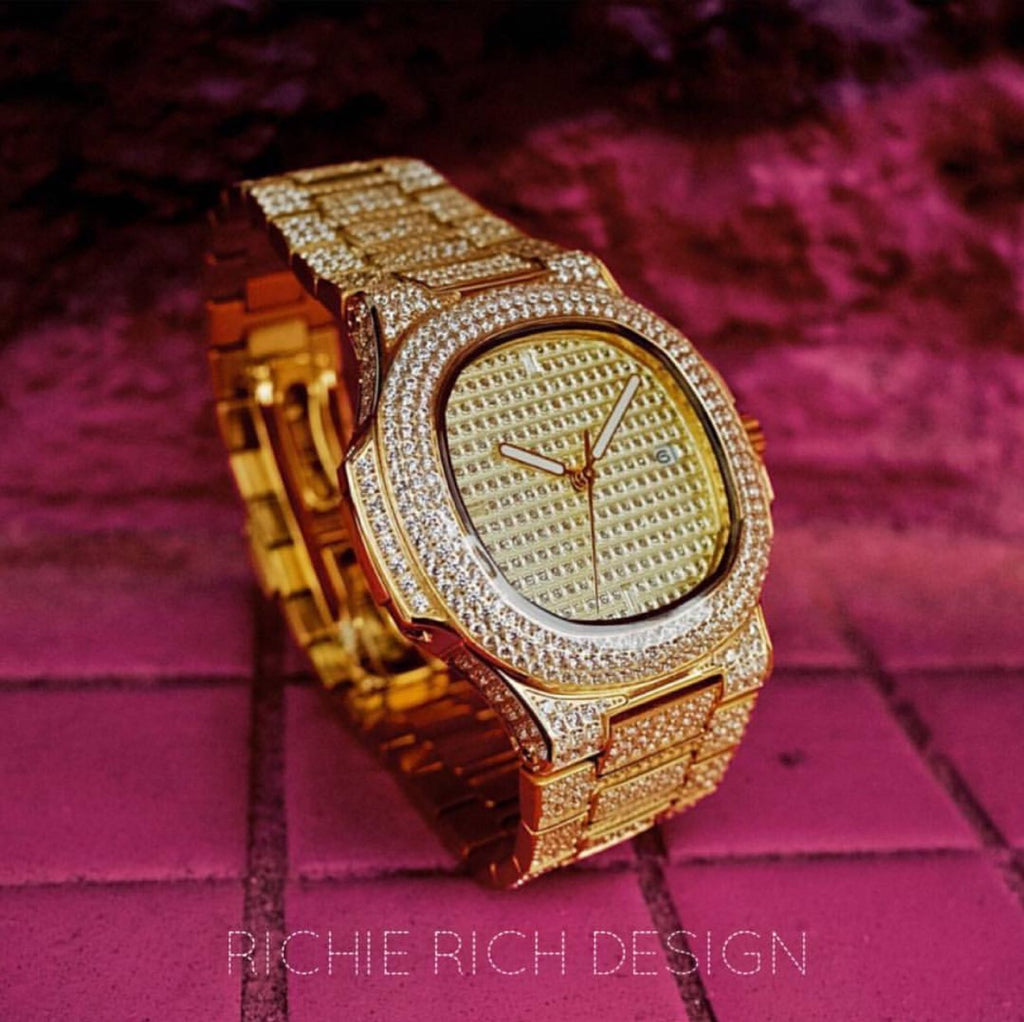 ICE RICH WATCH GOLD