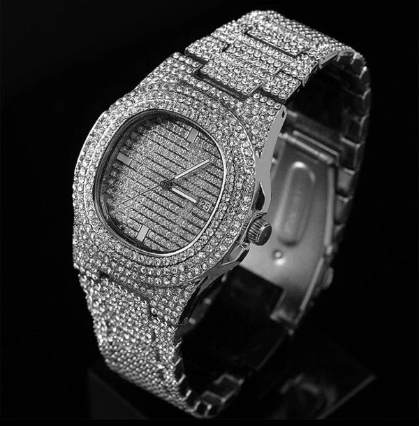 ICE RICH WATCH SILVER