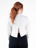White Split-back Sweatshirt