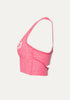 Peloton Slip Open Cropped Tank (Heatwave-Rainwash)