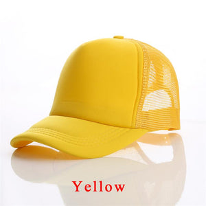 1 PCS Free Custom Logo Baseball Cap Adult Child Personality DIY Design Trucker Hat 100% Polyester Hats Blank Mesh Cap Men Women