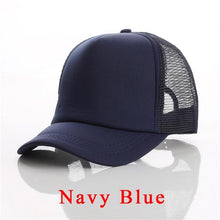 Load image into Gallery viewer, 1 PCS Free Custom Logo Baseball Cap Adult Child Personality DIY Design Trucker Hat 100% Polyester Hats Blank Mesh Cap Men Women