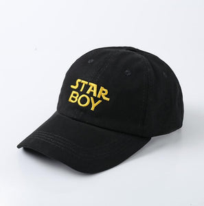 100% Cotton The Weeknd Starboy Hats and Stargirl Hats XO Dad Hat Baseball Caps Snapback Hip Hop Caps Men and Women Summer