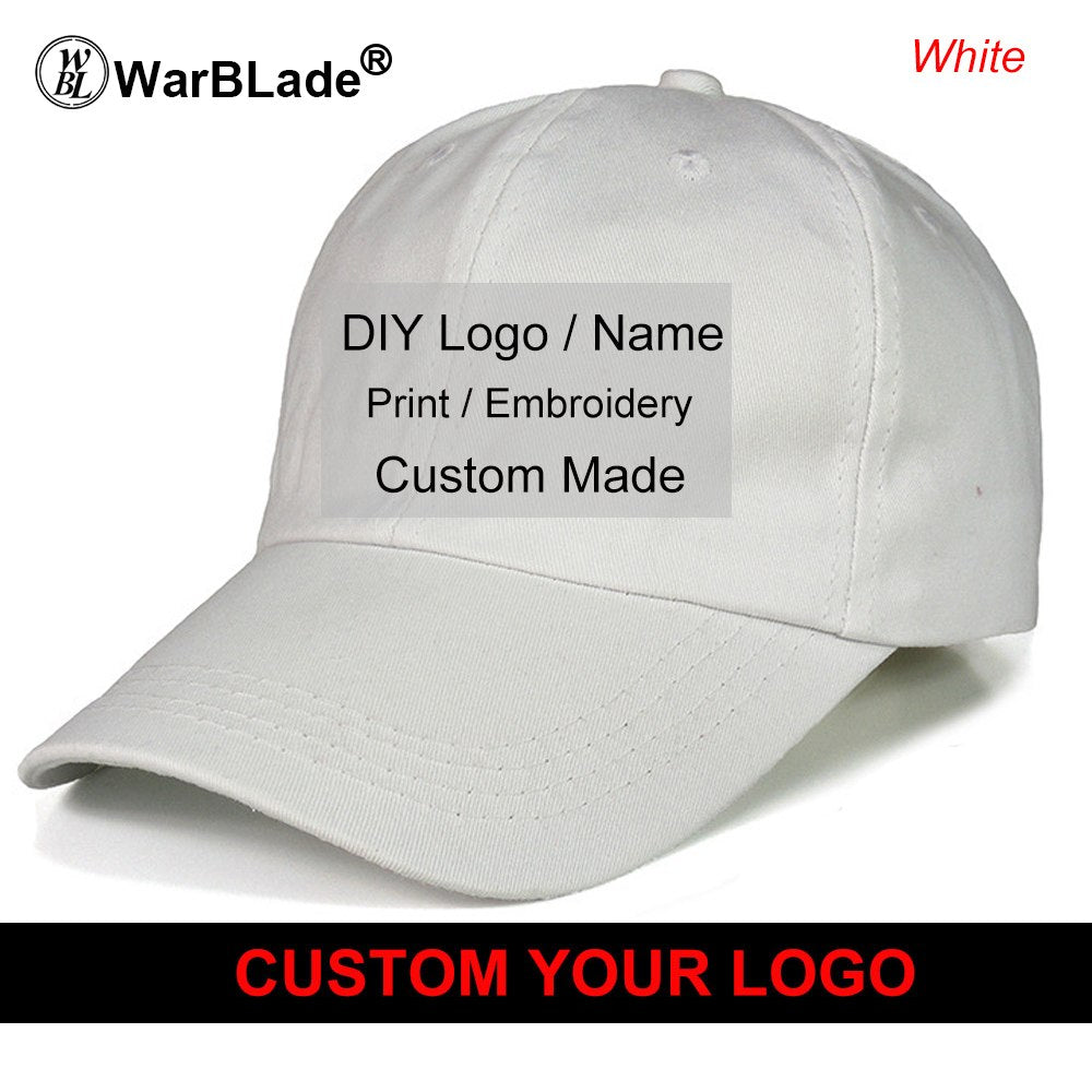 10PCS Custom Logo Printed Designer Womens and Mens Cap Unisex Fashion Casual Hats Adjustable Baseball Caps Good Quality