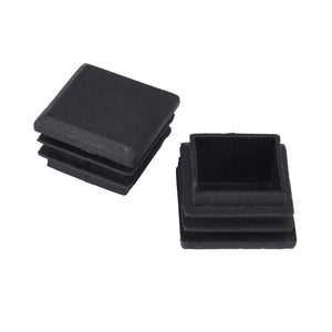 10Pcs Black Plastic Blanking End Caps Square Inserts For Tube Pipe Box Section Wholesales
