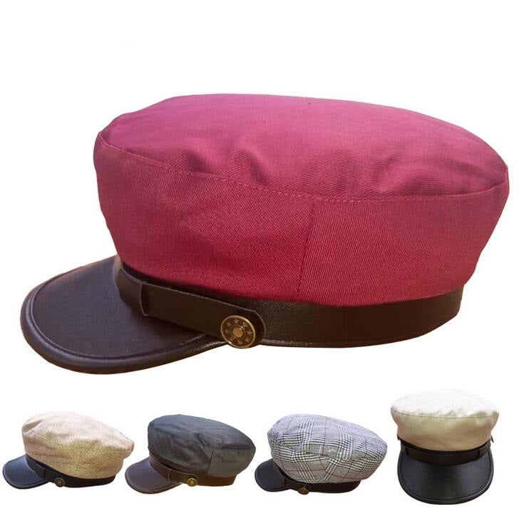 10pcs  Military Cap Flat Top Navy Hat Boys Girls Old Fashion Army Caps For Men Women