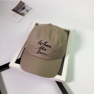 10pcs/lot 01806-pei20204 ins style where letters embroidery leisure cap men women  baseball hat wholesale