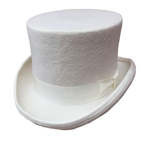 58d0762a08a63 13.5cm 5 1 4 White Wo Felt Groom Wedding Hat Top Hat High Topper For Men  Women Low Short Steampunk Mad Hatter Top Hat