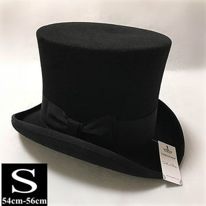 fab15b8eccab0 13.5cm Height Black Red Gray Wo High Top Hat Men Women Chapeau Fedora Jazz Magician  Felt Vintage Party Church Hats S M L XL