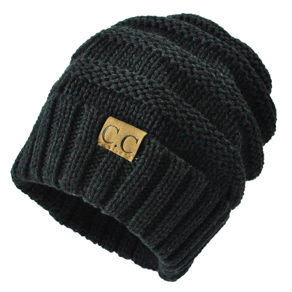 592fc2d66ce 13 colors Unisex Winter Knitted Wo Cap Women Men Folds Casual CC label –  oePPeo - Master of Caps   Hats