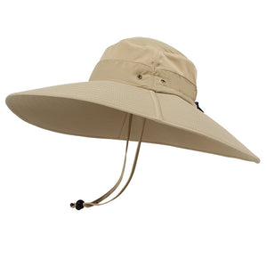 0bf7a246 15cm Super Long Wide Brim Bucket Hat Breathable Quick dry Men Women Boonie Hat  Summer UV Protection Cap Hiking Fishing Sun Hat