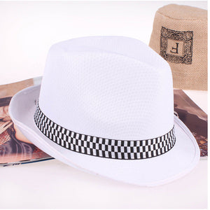 16 Colors Summer fa dry jazz Fedora Hats Outdoor Beach Sunhat Breathable Gangster Cap stage Performance hat for men women