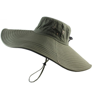 47b2f8a84e807 16cm Long Wide Brim Bucket Hat Breathable Quick dry Men Women Boonie Hat  Summer UV Protection