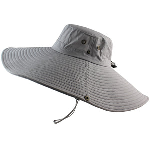 16cm Long Wide Brim Bucket Hat Breathable Quick dry Men Women Boonie Hat Summer UV Protection Cap Hiking Fishing Sun Hat Beach