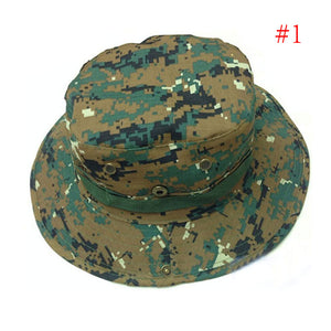 1PC New Unisex One Size Colorful Bucket Hat Boonie Hunting Fishing Outdoor Cap Wide Brim Military