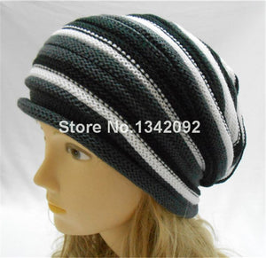 1PCS Winter Women Men Beanie Hat Beautiful Design Slouchy Baggy Unisex Knitted Cap Skull NEW