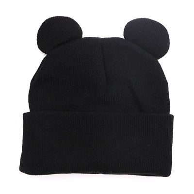 1pcs Female Fashion Cute Ear Shape Cap Warm Winter Hat For Women Girls's Knitted Hat Cap Brand New Hip Hop Cap Winter Beanie