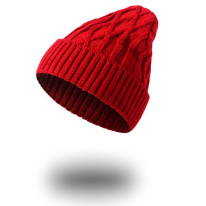 1pcs Unisex Winter Hats for Women and Men Knitting Skullies Beanie Hat Solid Stripes Hip Hop Outdoors Male Female Cap Bonnet