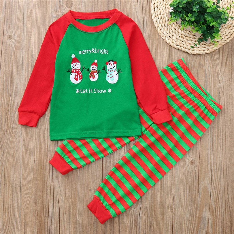 351cbb091d9b0 2 pieces scarf Christmas top baby girls boys Full stripe outfits reindeer  print green stripes pant boutique children 2018 #20
