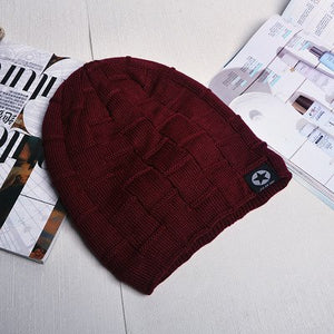 2016 Flag Casual Fashion Beanies Knitted Hat Men s Winter Hats For Men Caps  Warm Moto Fur d2919660f77