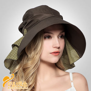 2016 New Arrival Summer Sun Hats Army Green Orange Ultraviolet-proof  Protect The Neck Leisure ff0ecafacc2