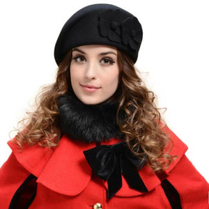2016 Winter Women Hats Felt French Beret Caps Felt Pillbox Hat Fashion Amazing