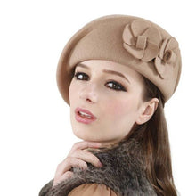 Load image into Gallery viewer, 2016 Winter Women Hats Felt French Beret Caps Felt Pillbox Hat Fashion Amazing