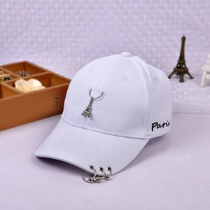 e15a0e37af9 2017 Brand Cotton Baseball Cap For Women Plain Snapback Men Fashion Pure Hats  Personality iron ring