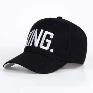 2017 Brand Queen Letters Baseball Cap Men Women Fashion Snapback Caps King Letters Summer Sun Hats Hip Hop Cap Co Boys