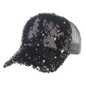 2017 Fashion snapback baseball cap casquette de marque gorras caps hats hat Femme Sequin mesh hip hop hats for men women GBY9