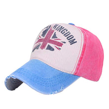 Load image into Gallery viewer, 2017 Hot Sale UK Flag Printed Baseball Cap Fashion Men Women Unisex Summer Shopping desportDuck Tongue Hat