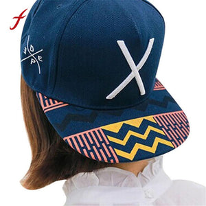 2017 Korean style baseball cap men snapback caps brand girl Vintage cute fashion sport print Letter X Hip-Hop Adjustable hats