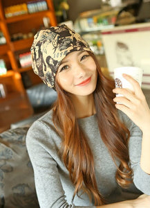 2017 Letter 2020 Beauty Hat For Women Knitted Cap Autumn Winter Warm Skullies Beanies Empty Hat Scarf Two Use 3 Colors 8404
