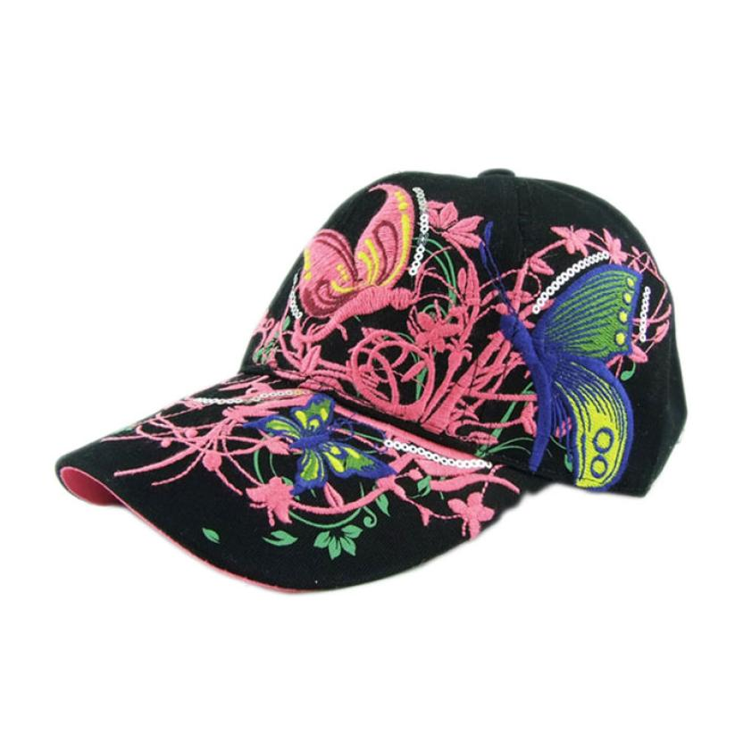 2017 New Arrival Unisex Caps 1PC Froal Print Outdoor Embroidered Baseball Cap Lady Fashion Shopping Cycling Hat Anti Sai SEP20