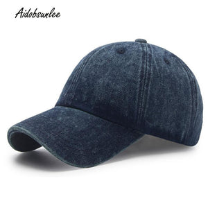 2017 New Baseball Cap Cot Denim Washed Solid High Quality Adjustable Cap Fashion Unisex trucker Cap Snapback Breathable Hats