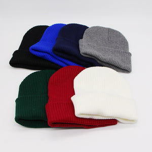 ae6b100bc0d 2017 New Fashion Blank Warm Winter Hat Solid Color Knitted Beanies Hats Men  Women Autu Woolen