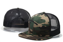 Load image into Gallery viewer, 2017 New Fashion Blank mesh camo Snapback Hats Adjustable Gorras Hip Hop Casual Baseball Caps for Men Women bone Casquettes